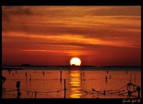 El roig de la posta de sol