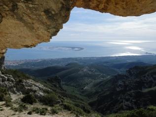 El Delta de l'Ebre des del cim del Montsià
